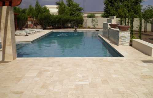Brisbane Travertine PoolCoping at Wynnum